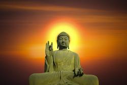 Statue of Buddha at peace