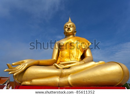 Statue of Buddha in Thailand - stock photo