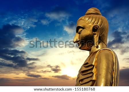 Statue of Buddha on twilight time #155180768