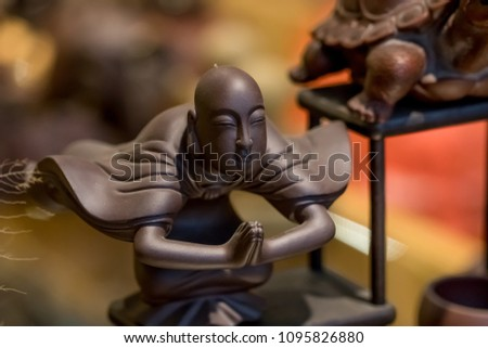 Statue of Chinese traditional deities #1095826880