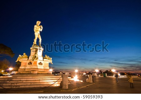 Statue of David at Micheal Angelo Park Florence, Italy