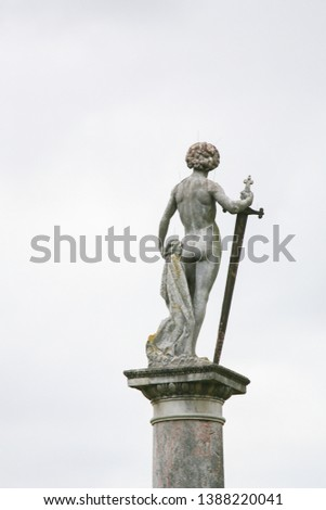 Statue of David, Conqueror of the Giant Goliath, in the Jardin du Luxembourg, Paris, France #1388220041