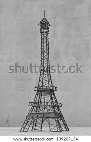 Statue of eiffel tower - stock photo