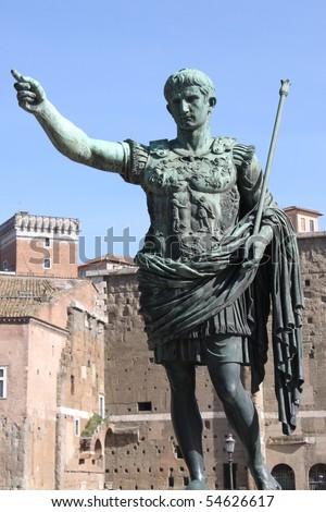 Statue of emperor Augustus in Rome, Italy