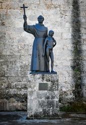 Statue of Fray Junipero Serra in Havana, Cuba