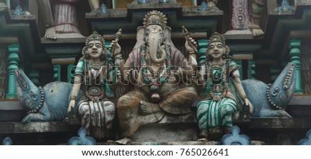 Statue of Ganesha hindu deity with elephant head in Trincomalee (Sri lanka)
