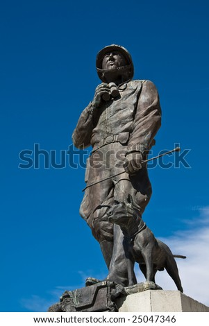 Statue of General Patton and Dog