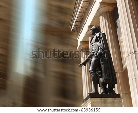 Statue of George Washington at Wall Street