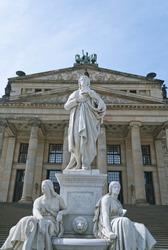 Statue of Germany's poet Schiller in front of the Konzerthaus, Berlin
