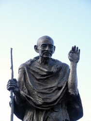 Statue of Ghandi in the Embarcadero center, San Francisco, California