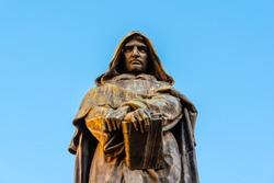 Statue of Giordano Bruno on Campo de Fiori, Rome, Italy.