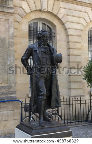 Statue of Goya, by Mariano Benlliure-Bordeaux