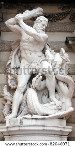 Statue of Hercules fighting the Hydra in the Hofburg Quarters, Vienna