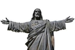 Statue of Jesus Christ. Sacred Heart. Christianity symbol