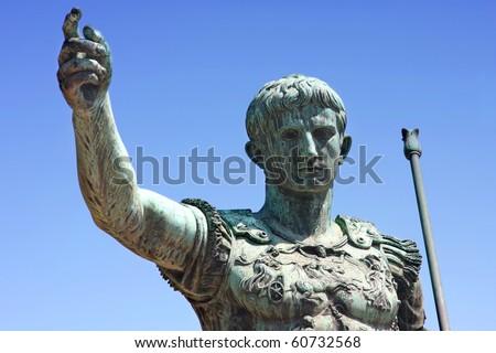 statue of Julius Caesar Augustus in Rome, Italy