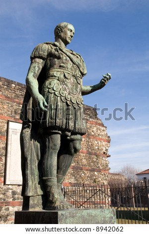 Statue of Julius Caesar in Turin (Italy)