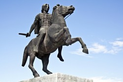 Statue of King Alexander the Great in Thessaloniki, Greece