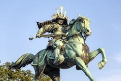 Statue of Kusunogi Masashige in Tokyo, Japan