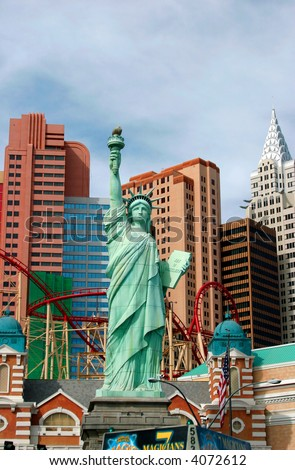 Statue of liberty at New York hotel, Las Vegas, Nevada, USA