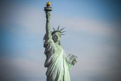 Statue of liberty closeup view