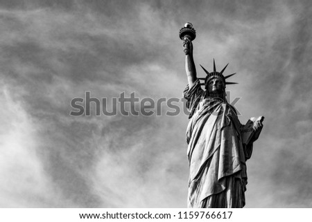 Statue of liberty  (dedicated on October 28, 1886) is one of the most famous icons of the USA #1159766617