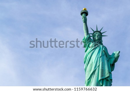 Statue of liberty  (dedicated on October 28, 1886) is one of the most famous icons of the USA #1159766632