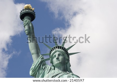Statue of Liberty from shoulders up