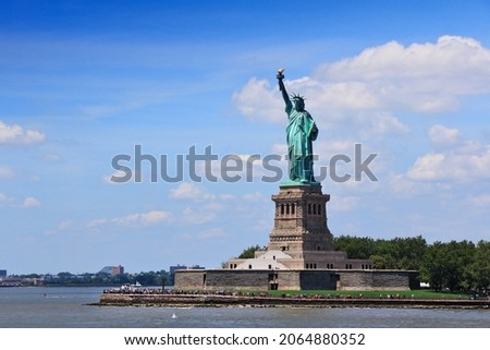 Statue of Liberty in New York City. American national landmark.
