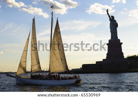 Statue of Liberty in New York City, New York.