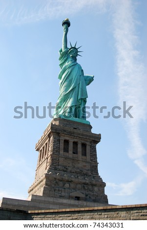 Statue of Liberty in New York in a sunny day