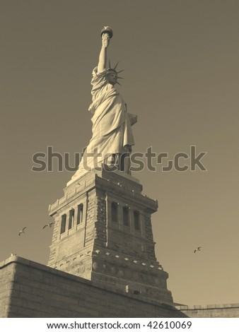 Statue of Liberty NYC, NY USA (sepia)