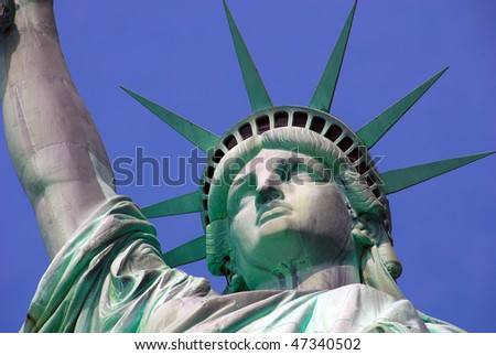 Statue of Liberty on Island in New York City