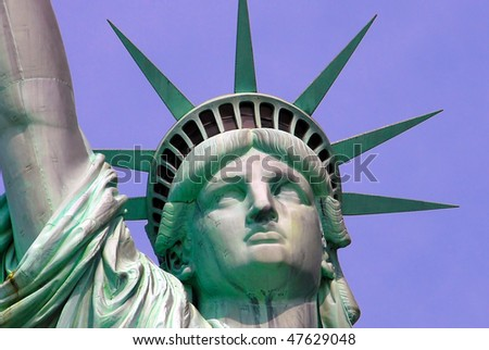 Statue of Liberty on Island in New York City - detail