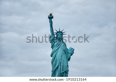 Statue of Liberty on the background of sky, New York City.