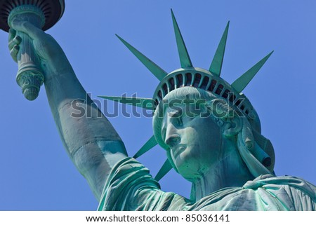 Statue of Liberty one of the most recognizable landmark of New York City and one of the symbols of United States of America