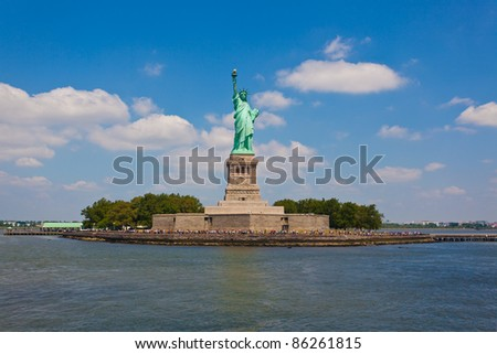 Statue of Liberty, one of the most recognizable landmarks of New York