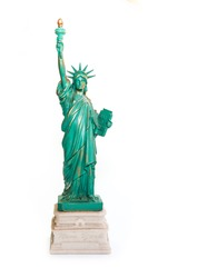 Statue of Liberty Souvenir on White Background