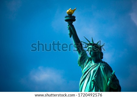 Statue of liberty. The Statue of Liberty is a colossal neoclassical sculpture on Liberty Island in New York Harbor in New York, in the United States.