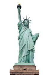 Statue of Liberty, The Statue of Liberty, Liberty Statue, American Symbol, New York, USA , isolated on white (with clipping path)