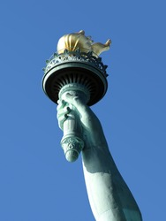 Statue of Liberty torch closeup