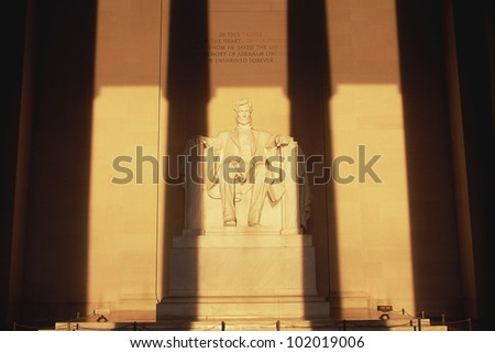 Statue of Lincoln at Lincoln Memorial