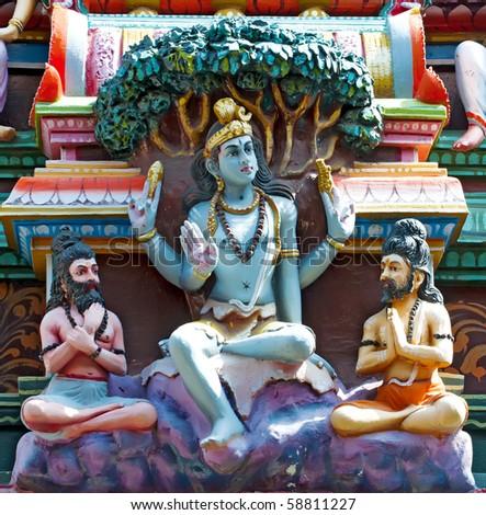 Statue of Lord Siva in vadapalani murugan temple Hindu temple, chennai, India