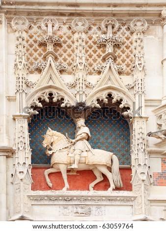 Statue of Louis XII at Blois castle, Loire, France