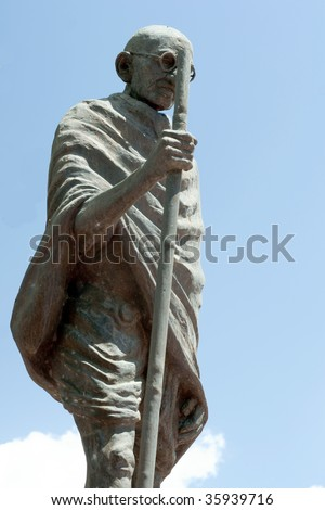 Statue of Mahatma Ghandi in a part in Trinidad and Tobago