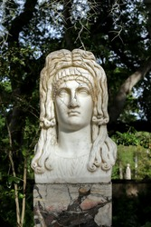 Statue of Medusa Head made out of Marble