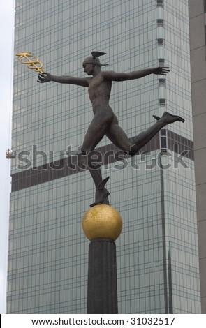 Statue Of Mercury, Ancient Roman God Of Merchants And ...