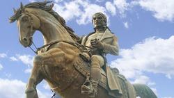 statue of Mexican hero. Mexican Revolution. Jose maria morelos & pavón