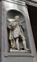 Statue of Michelangelo Buonarroti in Florence