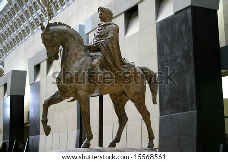 Statue of Napolean on horseback Musee d'Orsay Paris France