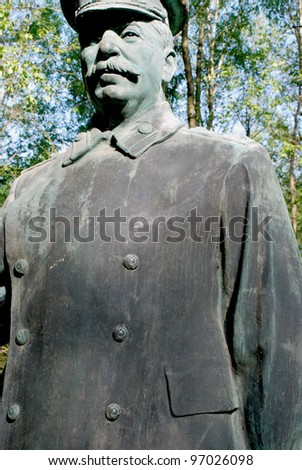 Statue of one of the top twentieth century dictator camp - only in historical museum.